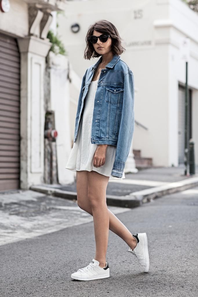 Как носить джинсовую куртку oversize-Фото 3