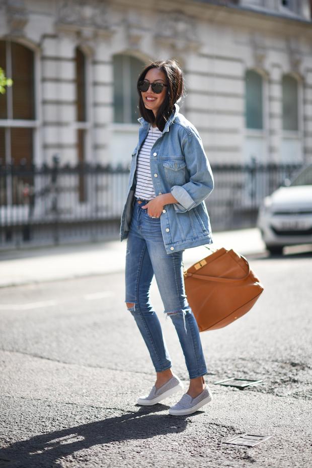 Как носить джинсовую куртку oversize-Фото 4