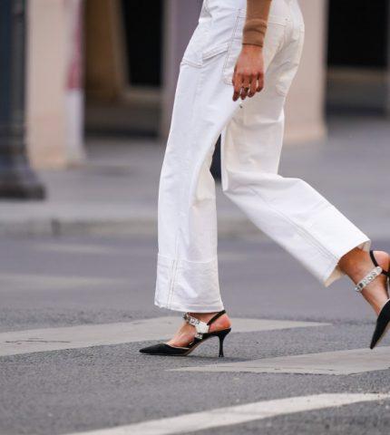 Как носить белые джинсы летом-430x480
