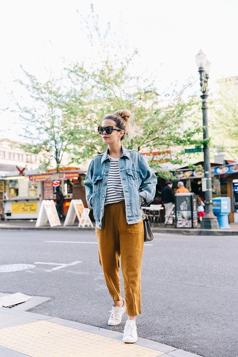 Как носить джинсовую куртку oversize-Фото 2