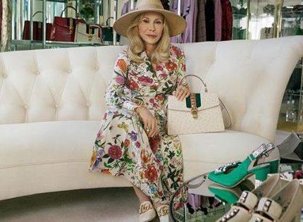 77-летняя Фэй Данауэй стала новым лицом бренда Gucci-430x480