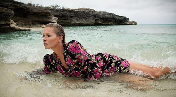 Кейт Мосс в рекламной кампании Saint Laurent-Фото 1