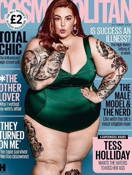 Plus-size модель Тесс Холлидей снялась для британского Cosmopolitan-Фото 1