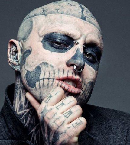 Тату-модель Zombie Boy умер в возрасте 32 года-430x480