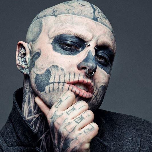 Тату-модель Zombie Boy умер в возрасте 32 года-Фото 1