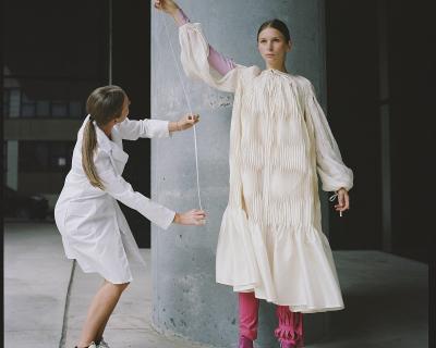В Нью-Йорке на один день создали «центр исследования» украинской моды-430x480