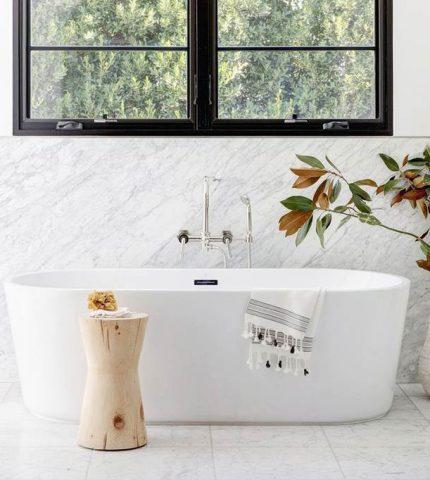Простые и элегантные идеи для ванной комнаты-430x480