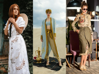 Травяные оттенки осени: вещи в зеленом цвете от украинских дизайнеров