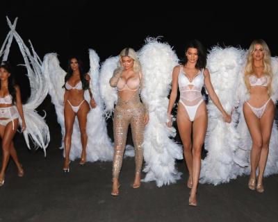 Сестры Кардашьян-Дженнер стали «ангелами» Victoria's Secret-430x480
