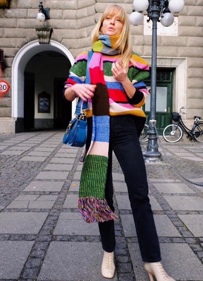 шарф как носить 2020