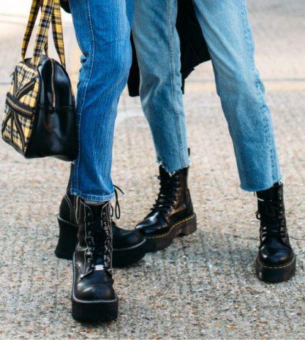 Байкерские ботинки: Как носить и с чем сочетать-430x480