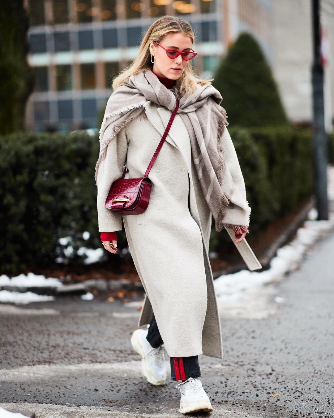зимние образы с пальто
