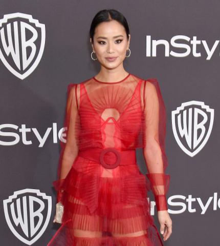 Джейми Чанг выбрала платье от украинского дизайнера на Golden Globes afterparty-430x480