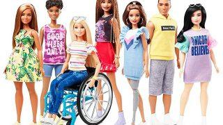 Новая Барби: В продажу поступили куклы на инвалидном кресле и с протезом ноги-320x180