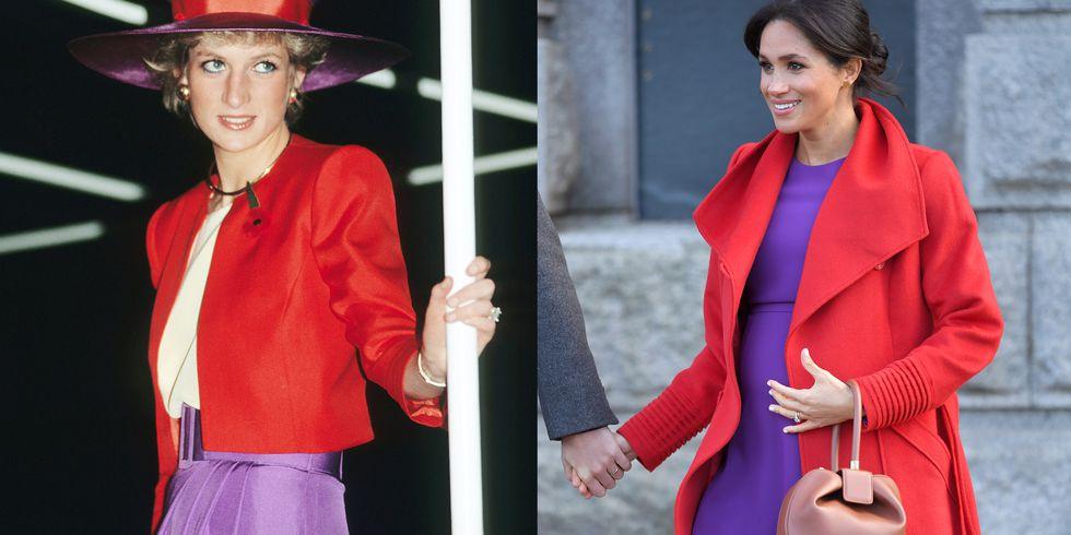 Быть принцессой: Как Меган Маркл копирует стиль Дианы Спенсер-Фото 3
