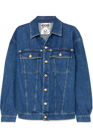 джинсовая куртка удлиненная MOSCHINO