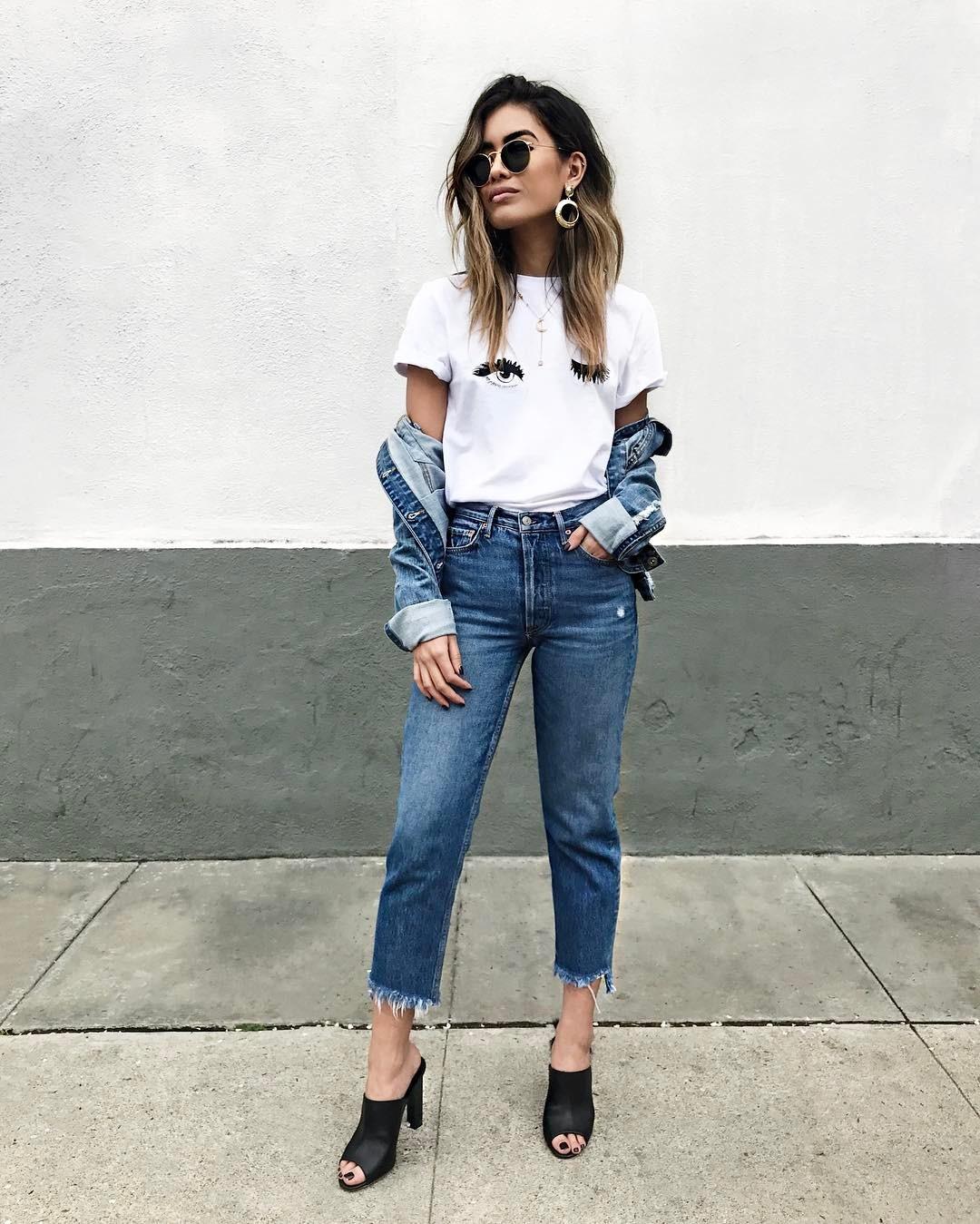 с чем носить джинсовую куртку - фото 2
