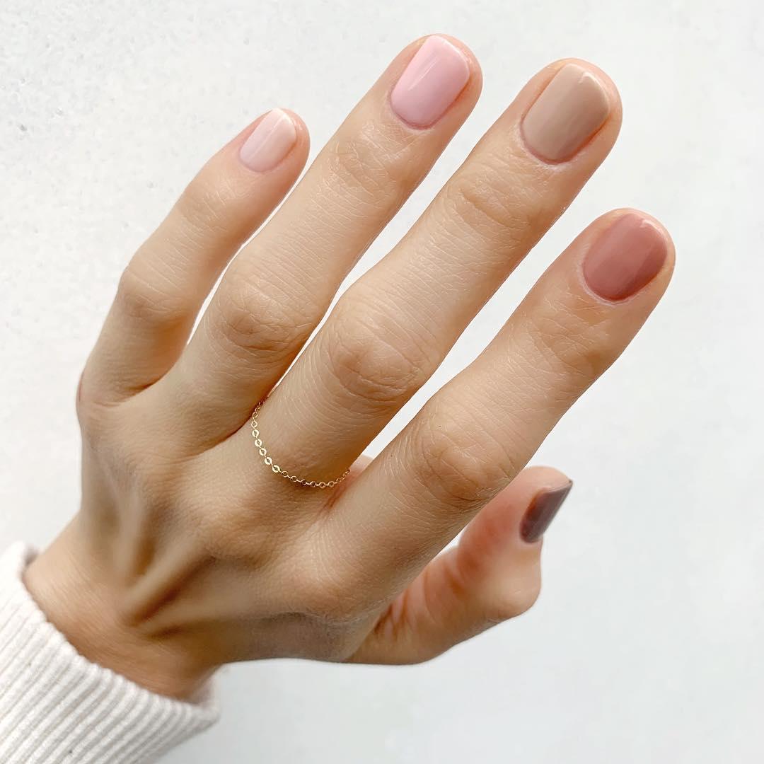 гель лак разноцветные ногти