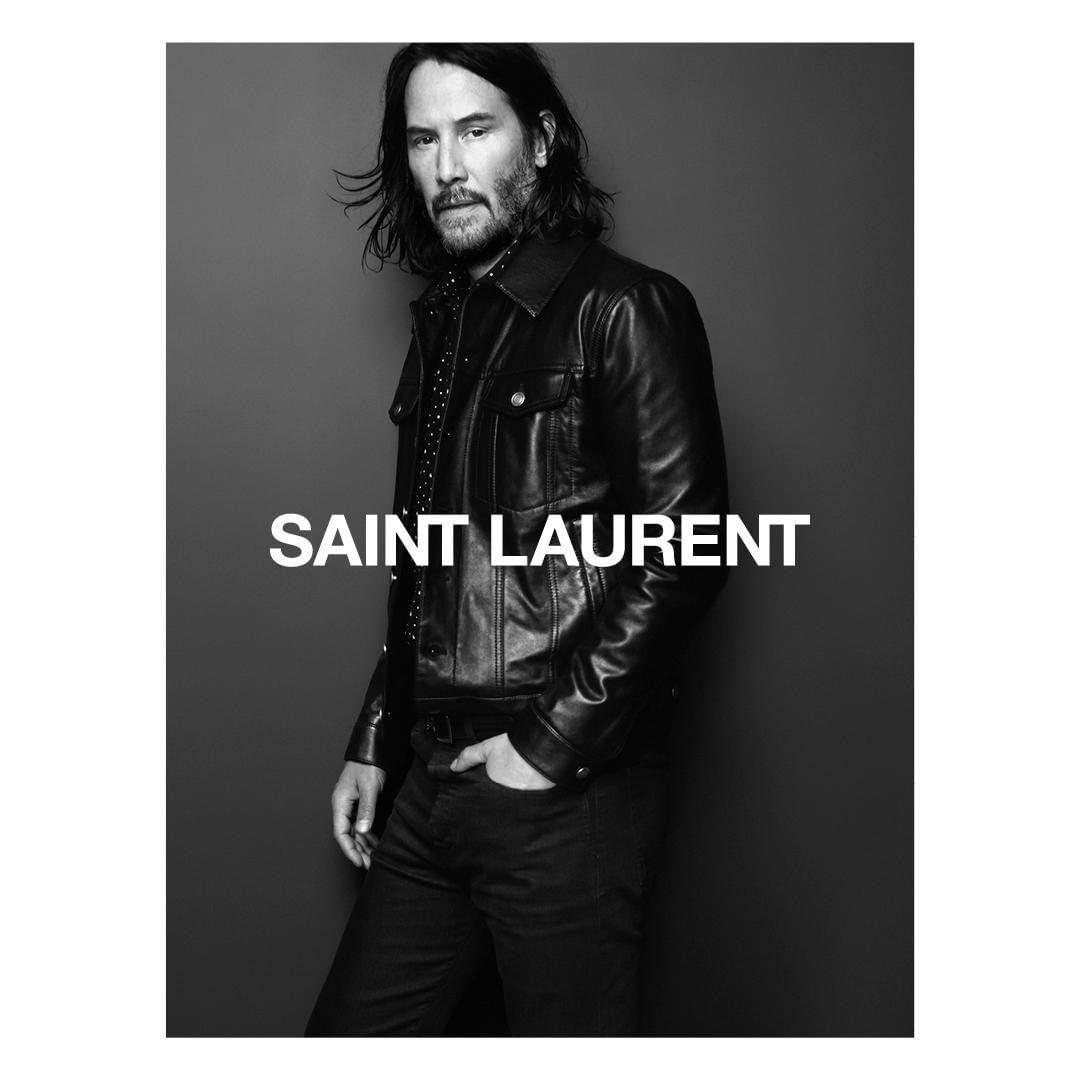 Киану Ривз стал новым лицом Saint Laurent-Фото 2