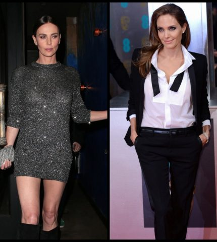 Шерлиз Терон впервые прокомментировала слухи о вражде с Анджелиной Джоли-430x480