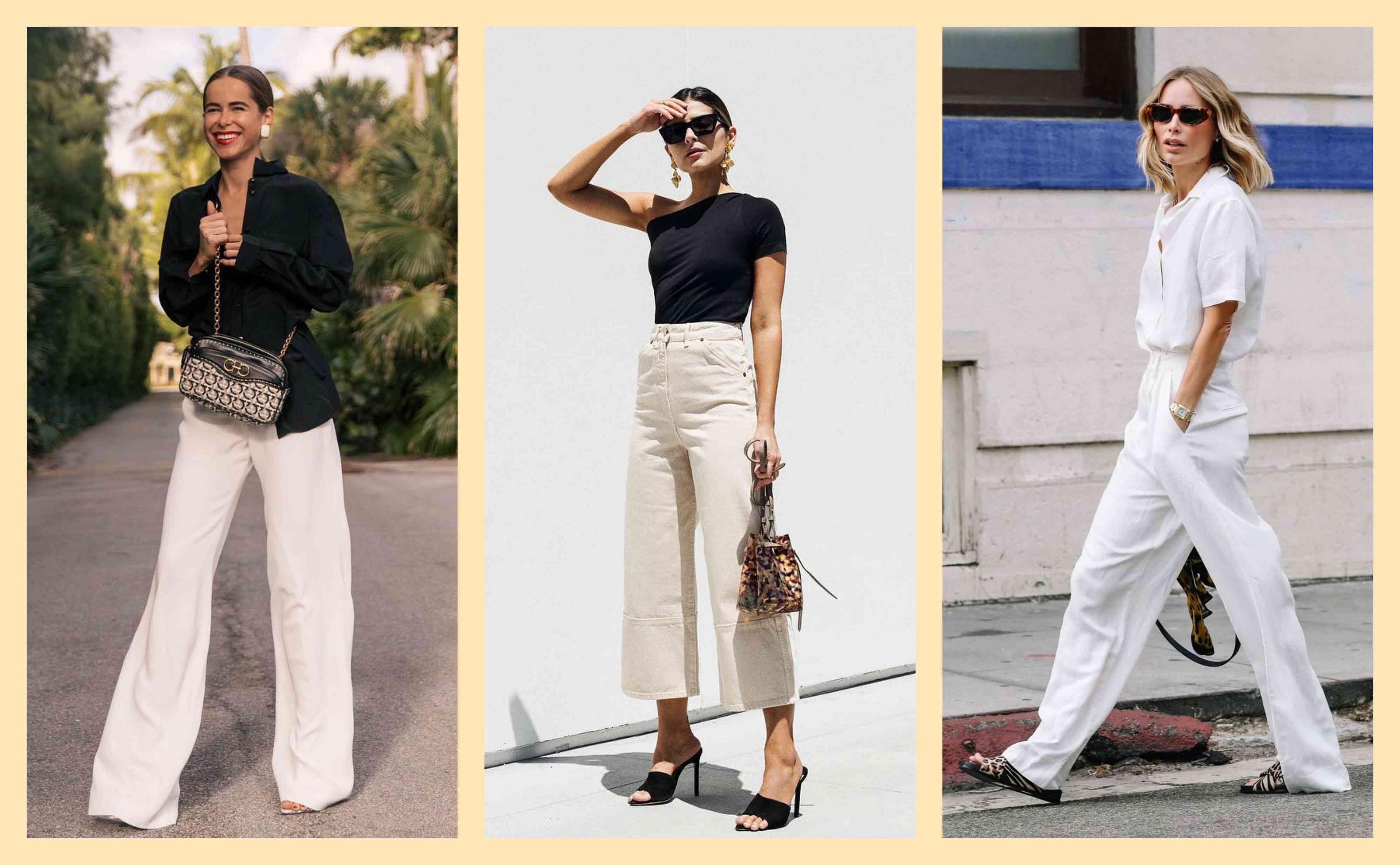 Как носить светлые брюки-Фото 1