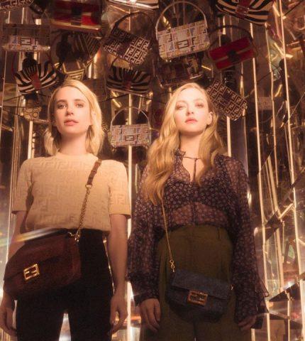 Аманда Сейфрид и Эмма Робертс снялись вместе для рекламы Fendi-430x480