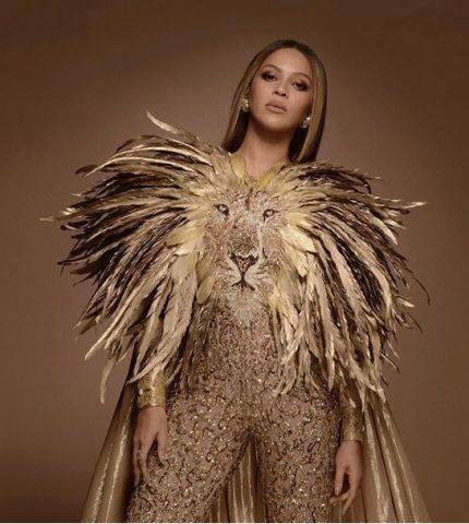 Образ дня: Бейонсе с дочкой в костюмах в стиле «Короля льва»-430x480