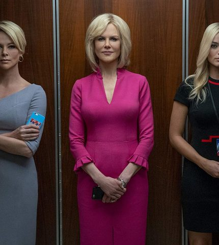 Шарлиз Терон, Марго Робби и Николь Кидман в трейлере фильма «Сенсация»-430x480