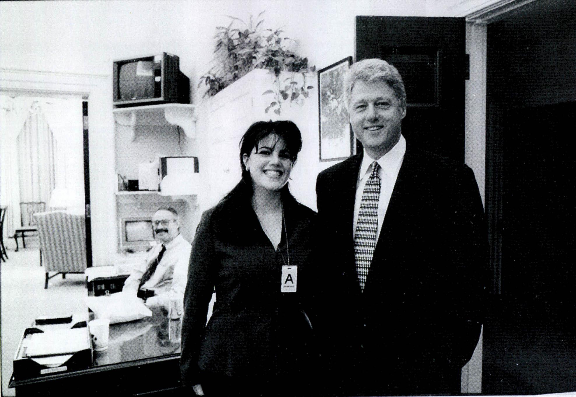 Моника Левински и Билл Клинтон фото