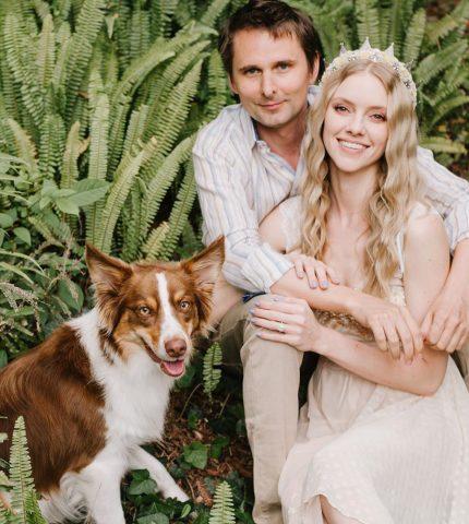 Фронтмен Muse Мэттью Беллами женился на модели Элль Эванс-430x480