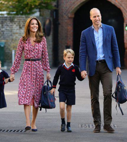 Кейт Миддлтон и принц Уильям отвели дочку в школу-430x480