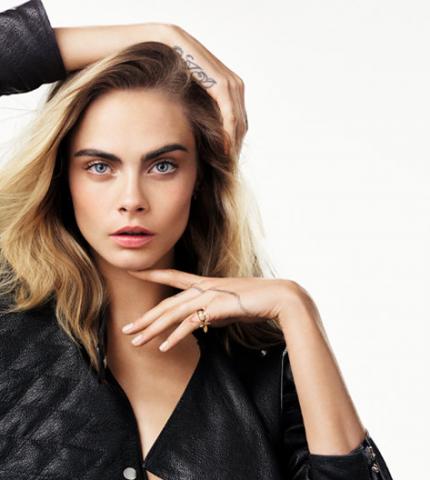 Кара Делевинь стала лицом ювелирной коллекции Dior-430x480