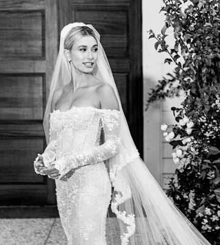 Хейли Бибер показала свое свадебное платье-430x480