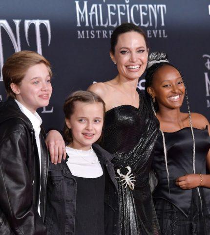 Дети помогли Анджелине Джоли справиться с разводом-430x480