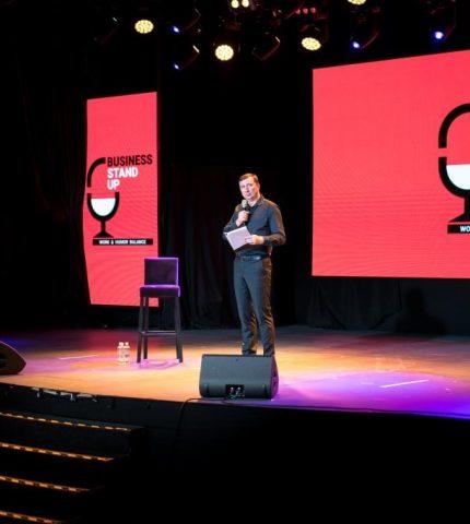 В Киеве состоялся первый украинский Business Stand Up: Work Humor Balance-430x480