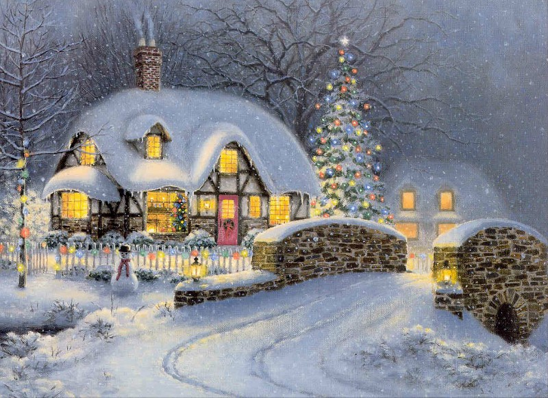 12 праздничных картин к Новому году и Рождеству-Фото 10