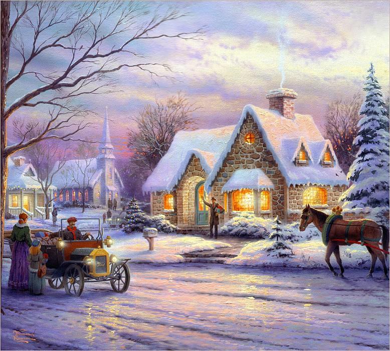 12 праздничных картин к Новому году и Рождеству-Фото 6