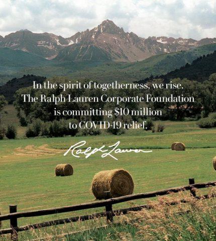 Фонд Ralph Lauren пожертвовал 10 миллионов долларов на борьбу с COVID-19-430x480