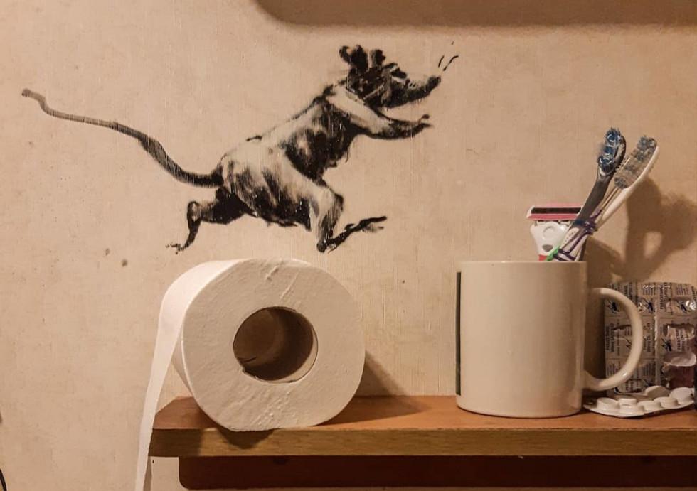Ванну в арт-объект: художник Бэнкcи показал новую работу-Фото 1