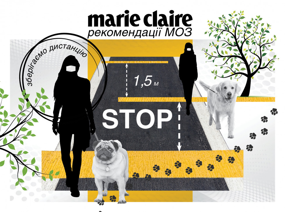 Ministry of Health of Ukraine recommendations coronavirus marie claire distance 4