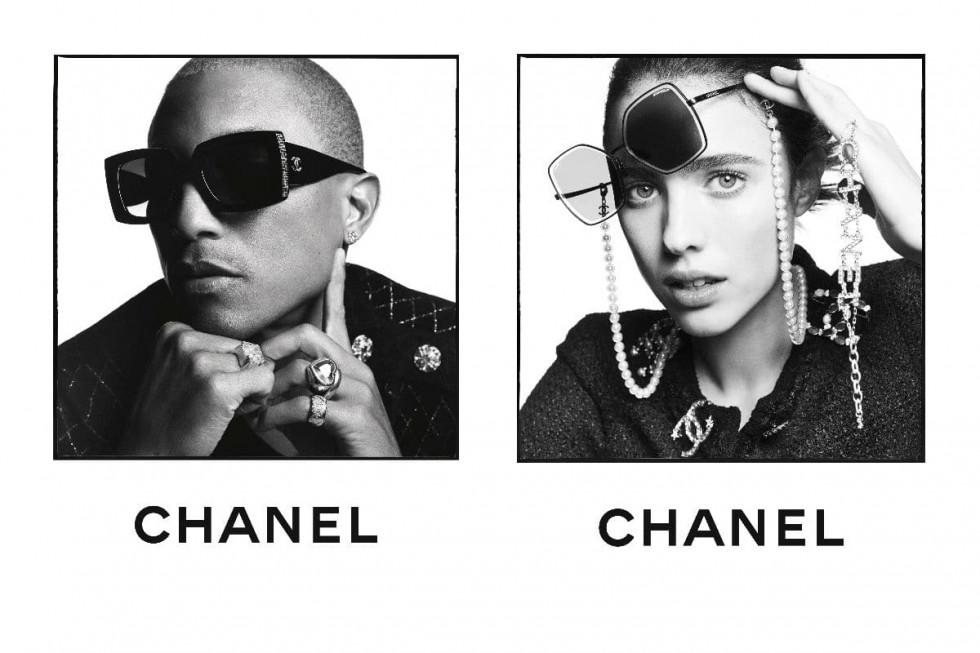 Фаррелл Уильямс и Маргарет Куэлли снялись в кампейне солнцезащитных очков Chanel-Фото 1