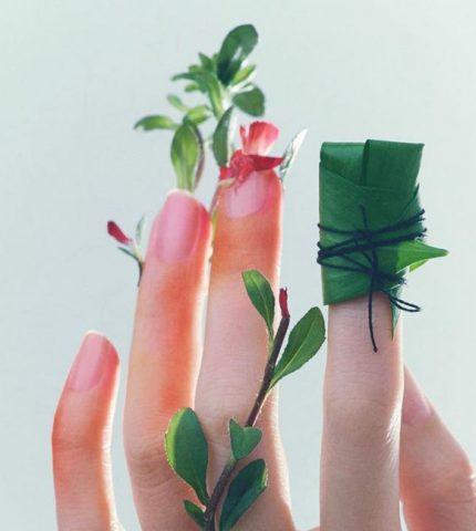 Идеи для летнего маникюра из окружающей среды-430x480