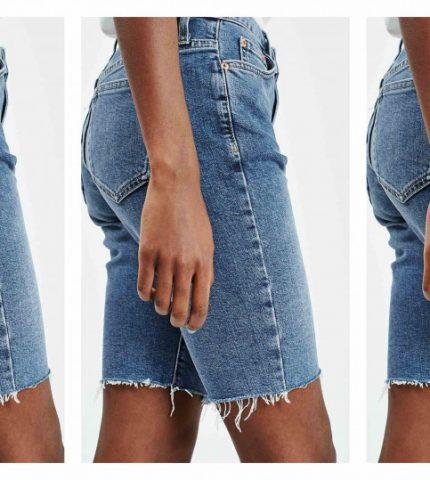 Смелый тренд: джинсовые велосипедки-430x480