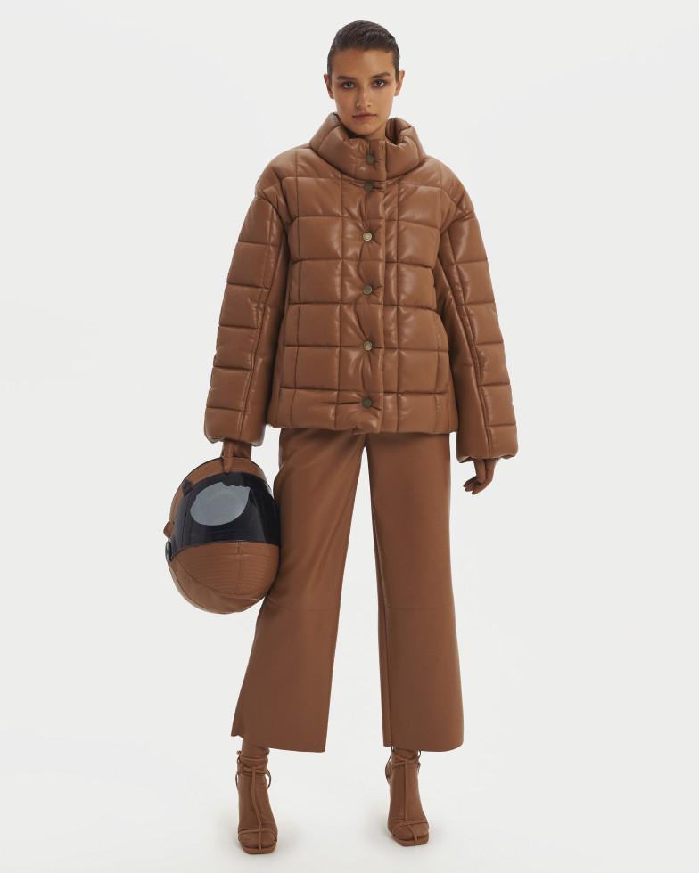 Цветная кожа, культовые пальто и геометрия: Осенне-зимняя коллекция 20/21 the COAT by Katya Silchenko-Фото 8