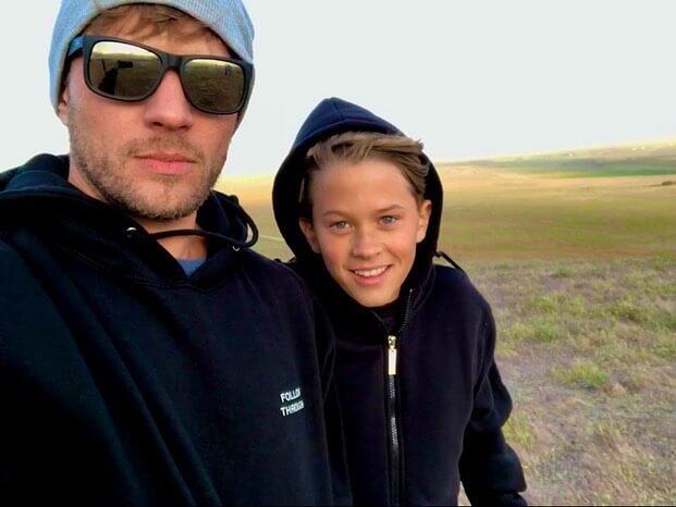 Райан Филлипп с сыном Диконом