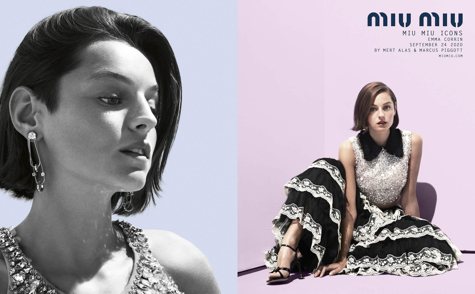 Эмма Коррин, Ким Бейсингер и Хлоя Севиньи снялись для «иконической» кампании Miu Miu-Фото 2