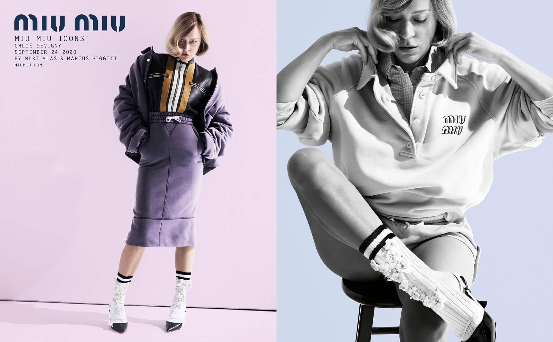 Эмма Коррин, Ким Бейсингер и Хлоя Севиньи снялись для «иконической» кампании Miu Miu-Фото 1