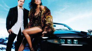 Ирина Шейк путешествует на кабриолете с компанией друзей и собакой в рекламе Versace-320x180