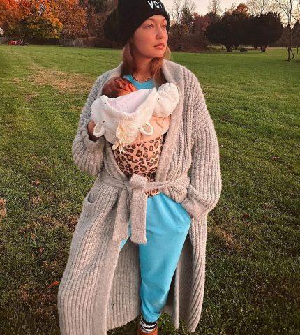 ИоландаХадид показала свежие фото Джиджи и ее новорожденной дочери-430x480