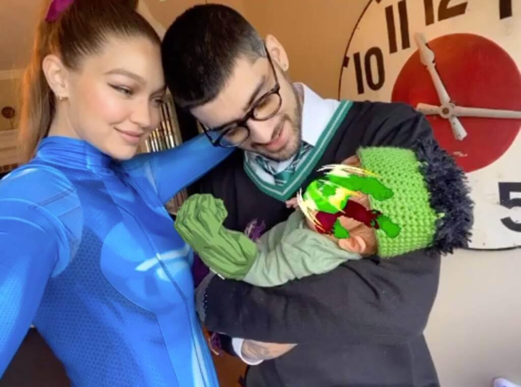 Семейка супергероев: Джиджи Хадид и Зейн Малик впервые показали новорожденную дочь-Фото 1